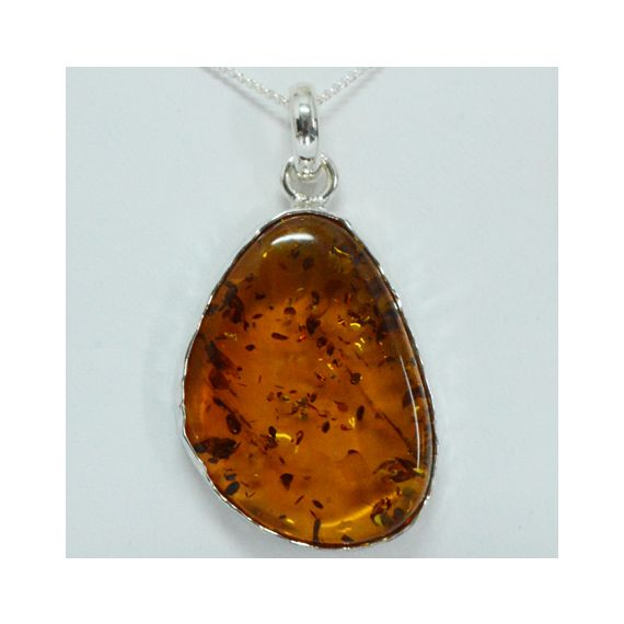 Amber Pendant set in Sterling Silver