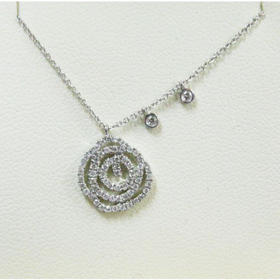 14ct white gold diamond necklace
