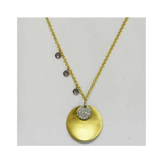 14ct yellow gold diamond necklace