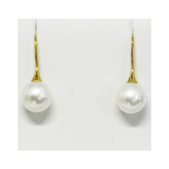 White South Sea Hook Pearl Earrings