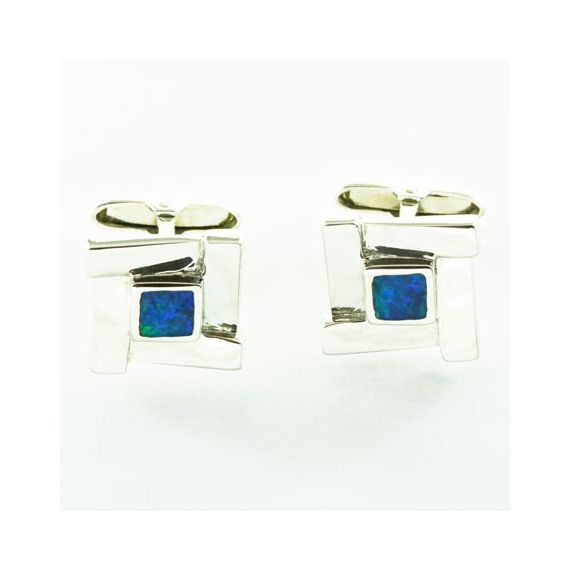 Inlaid Opal Cufflinks set with Inlaid Opal