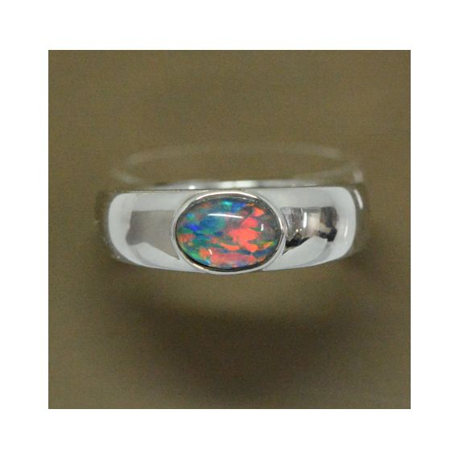 Sterling Silver Triplet Opal Ring