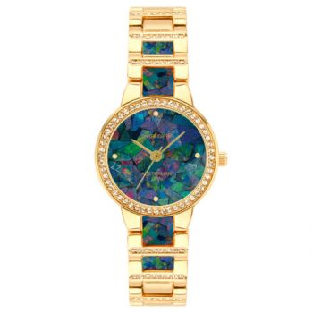 Ladies Pierre Cardin opal face watch set with opals in the band