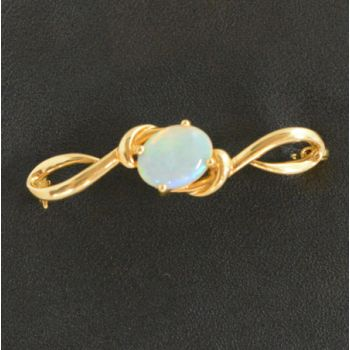 18ct Gold Solid Opal Brooch