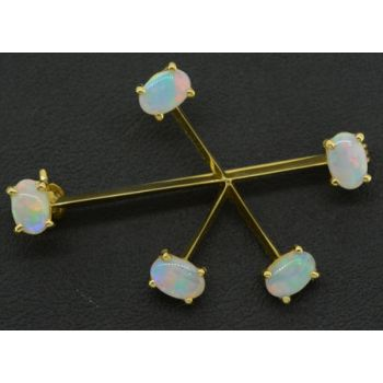 18ct Yellow Gold Southern Cross Opal Brooch