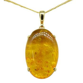 9ct Yellow Gold Oval Pendant