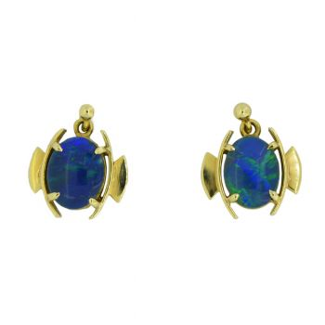 Antique 14ct Gold Triplet Opal