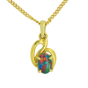 Triplet Opal Pendant 14ct Yellow Gold