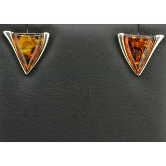 Sterling Silver Triangle Shaped Earrings