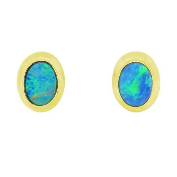 14ct Yellow Gold Doublet Earrings
