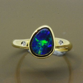 14ct Yellow Gold Freeform Doublet Ring
