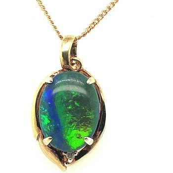 Gold Plated Triplet Opal Pendant (16mmx12mm)