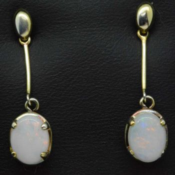 Gold Plated Solid Opal Earring drop