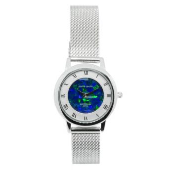 Ladies Pierre Cardin Opal Face Inlay Watch with Roman Numerals