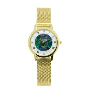 30mm Ladies Pierre Cardin Opal Face Inlay Watch with Roman Numerals