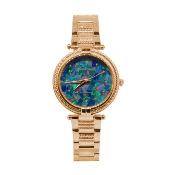 Ladies Rose Gold Pierre Cardin Opal Face Inlay Watch