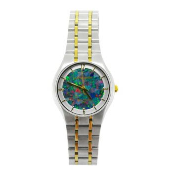 30mm Brushed Steel Ladies Pierre Cardin Opal Face Inlay Watch