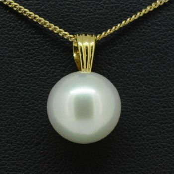18ct gold south sea pearl pendant