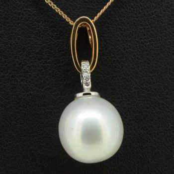 9ct rose gold south sea pearl pendant