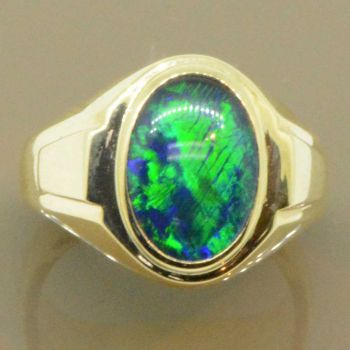 9ct Yellow Gold Triplet Opal Ring 2