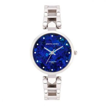 ladies Pierre Cardin opal face pyramid glass watch
