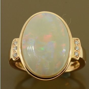 14ct Rose Gold opal ring