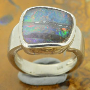 Sterling Silver Boulder Opal Ring (12x14)