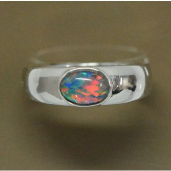 Sterling Silver Triplet Opal Ring