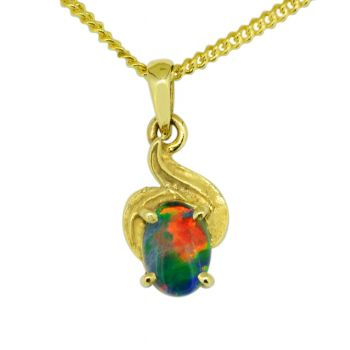 14ct Yellow Gold Triplet Pendant Opal