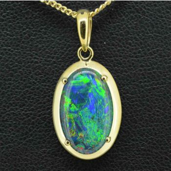 9ct gold triplet opal pendant 16mmx10mm