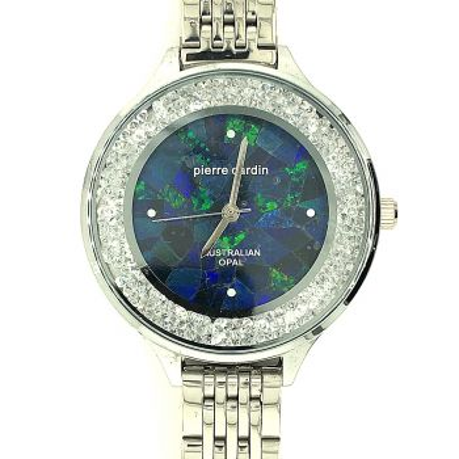 Silver Plated Pierre Cardin Crystal Opal Watch