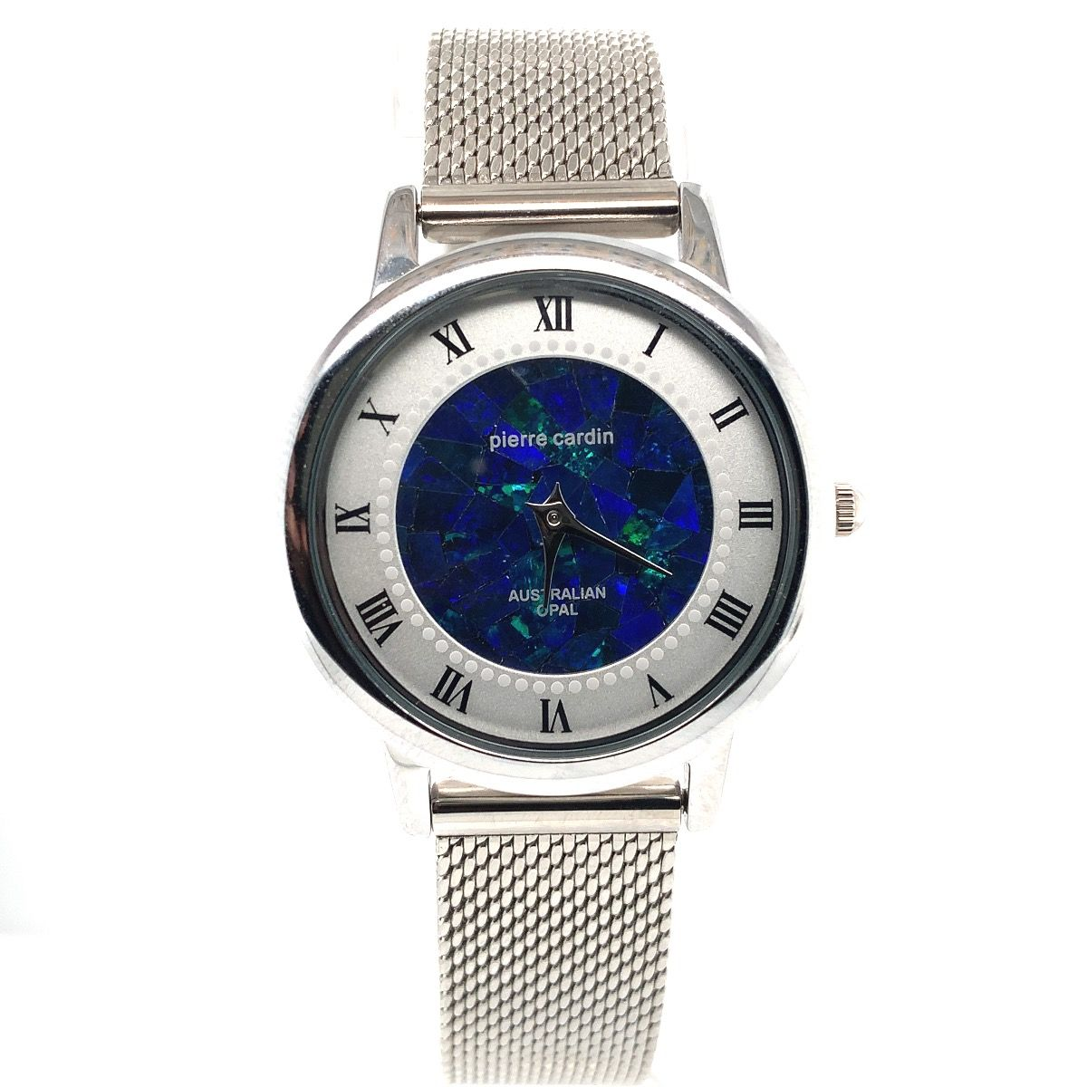 Pierre Cardin ladies opal face watch with mesh band