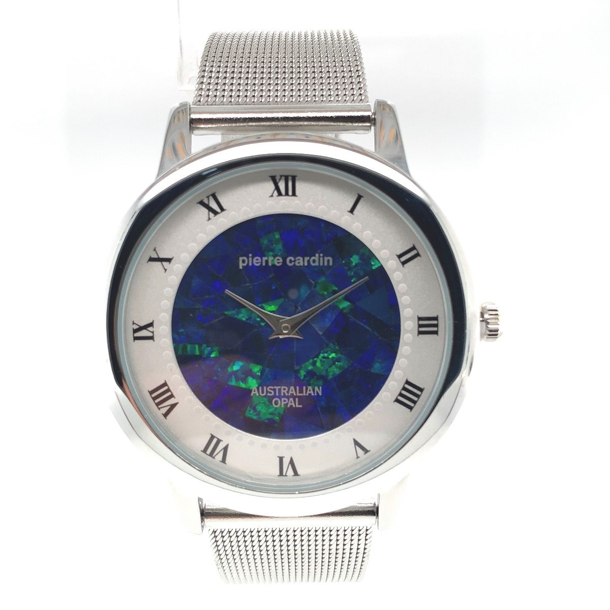 Pierre Cardin Opal face mens watch with mesh band