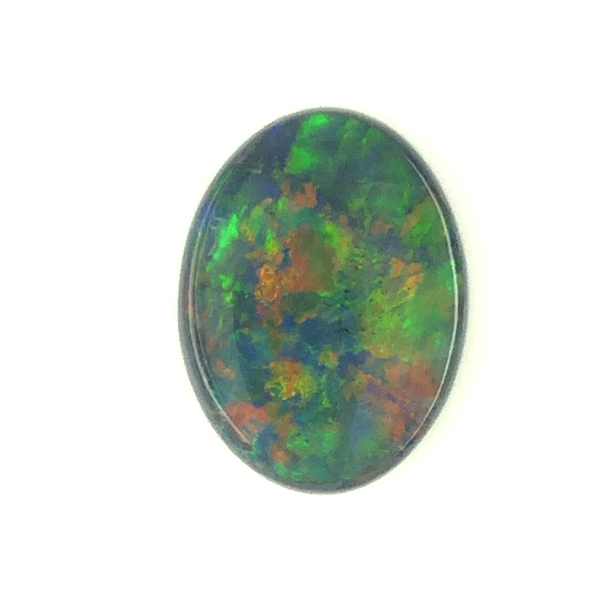 Solid Black Opal Stone 3.19ct