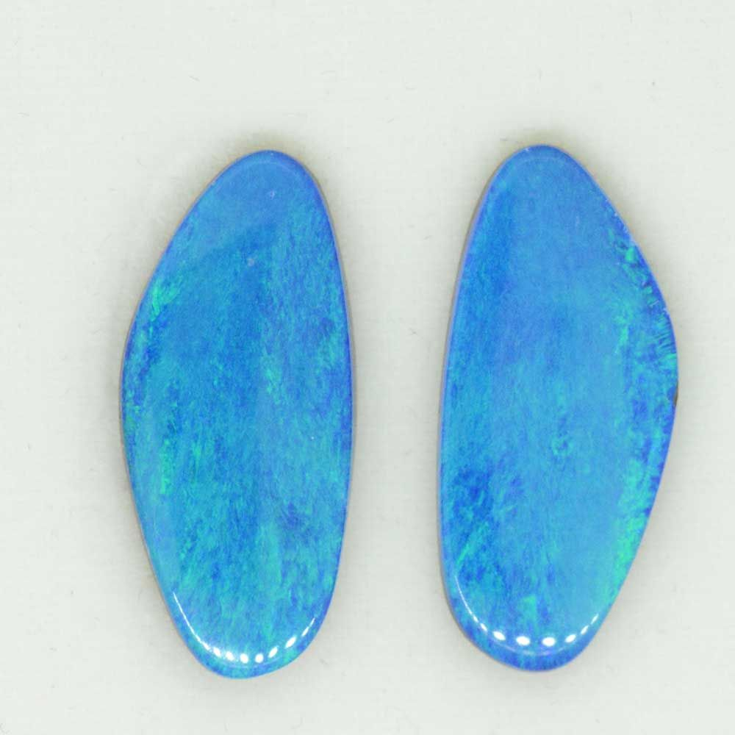 Doublet opal pair (23mmx10mm)
