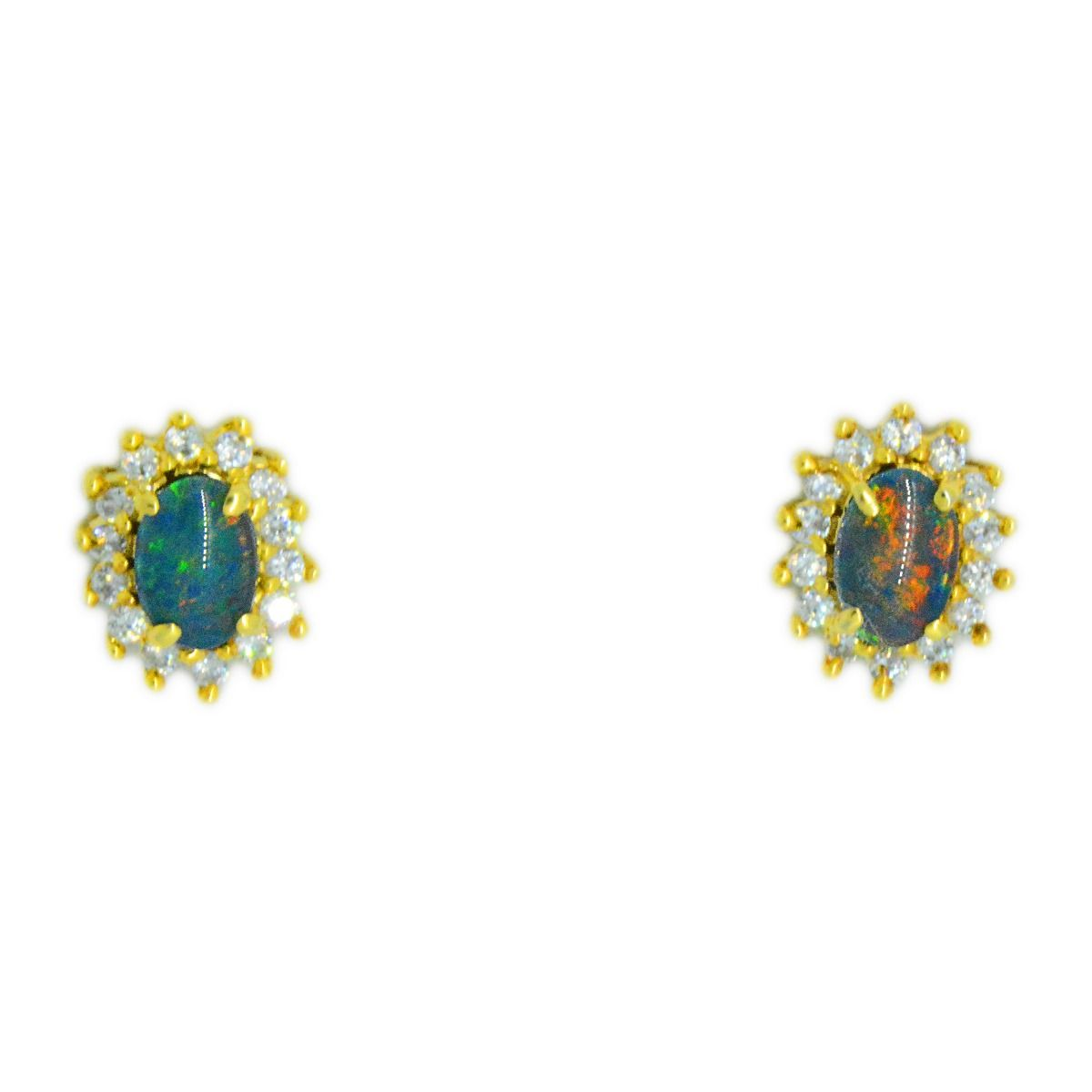 Gold Plated Cubic Triplet Earrings