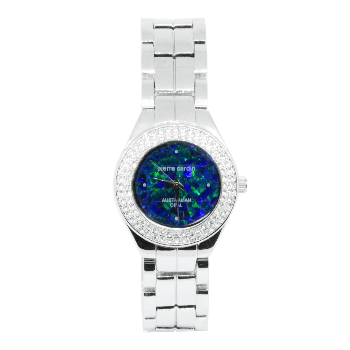 30mm Ladies Pierre Cardin Opal Face Inlay Watch with Czech Crystals