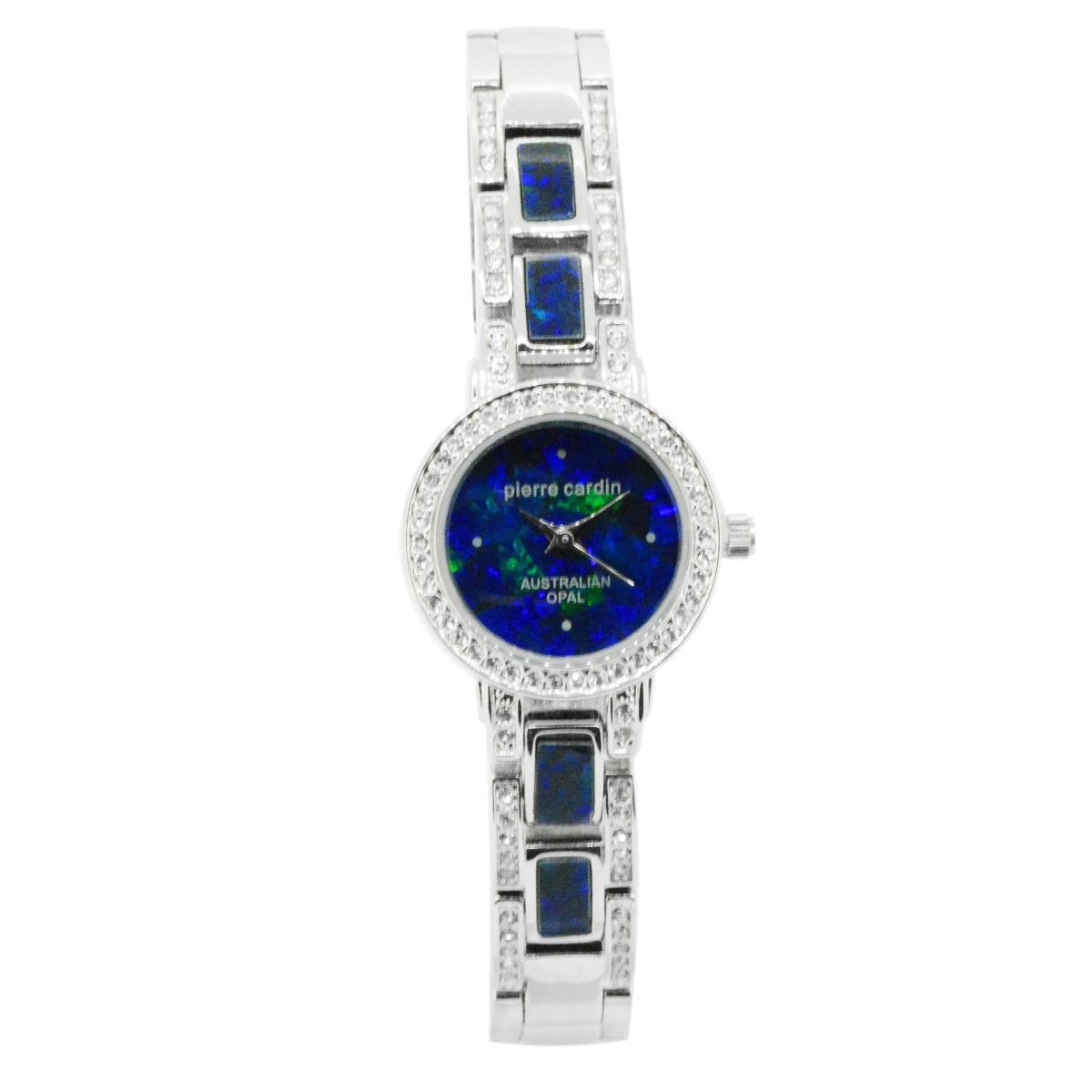 24mm Ladies Pierre Cardin Opal Face Inlay Watch with Czech Crystals