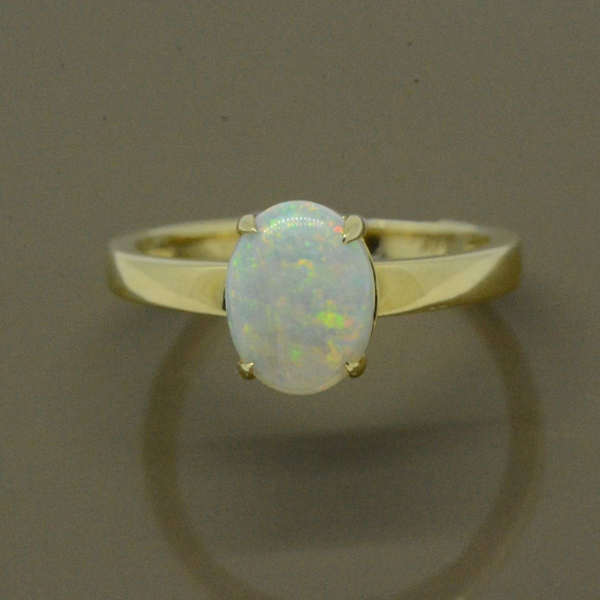 Yellow Gold 14ct Solid Crystal Opal Ring