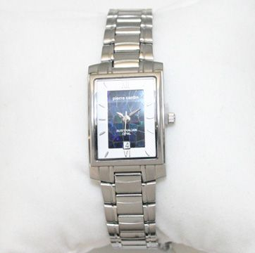 Ladies Pierre Cardin Silver Plated Opal Face Watch