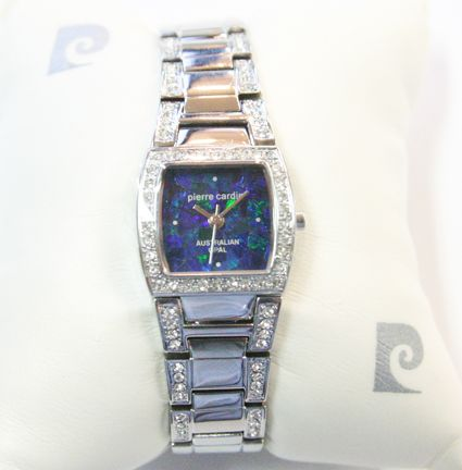 Ladies Pierre Cardin Opal Face Watch with Crystals
