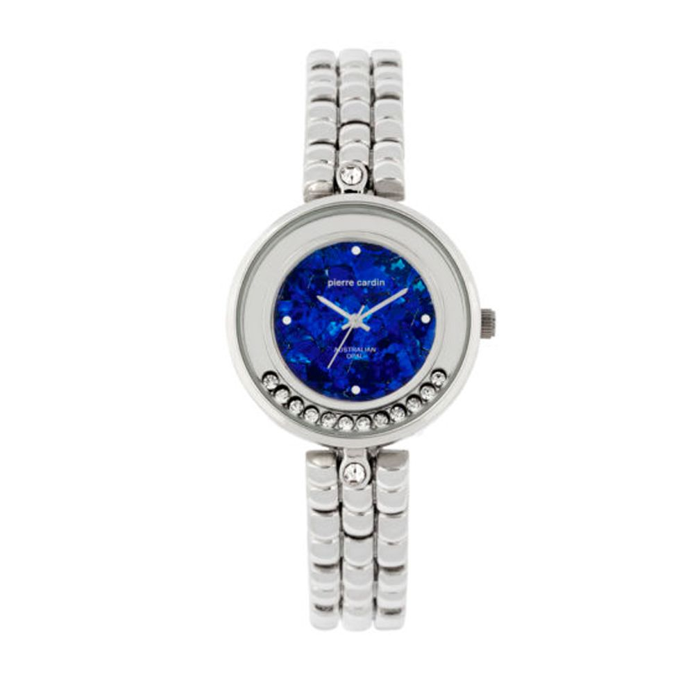 Pierre Cardin floating crystal opal face watch