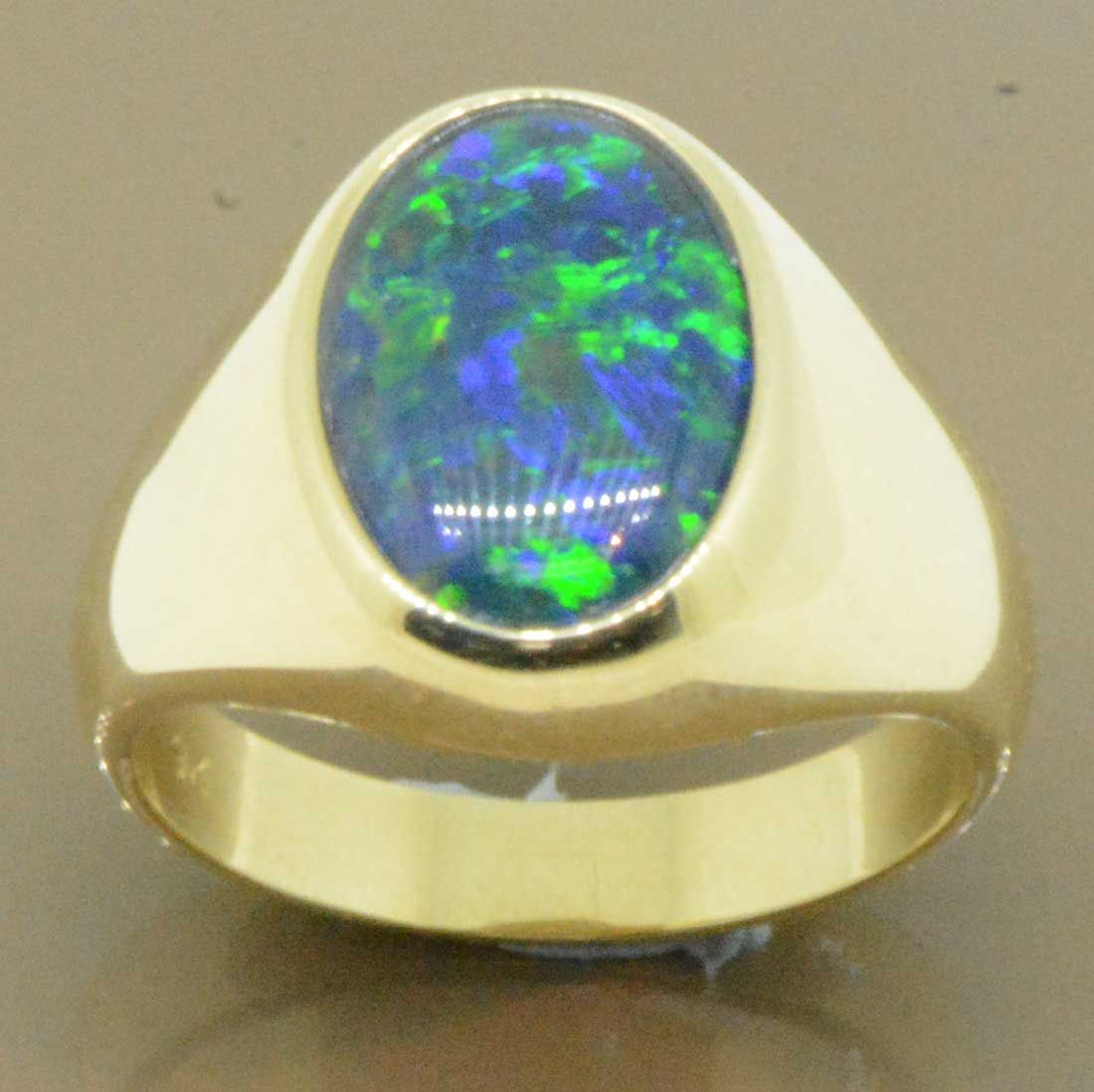 9ct Gold Triplet Opal Ring