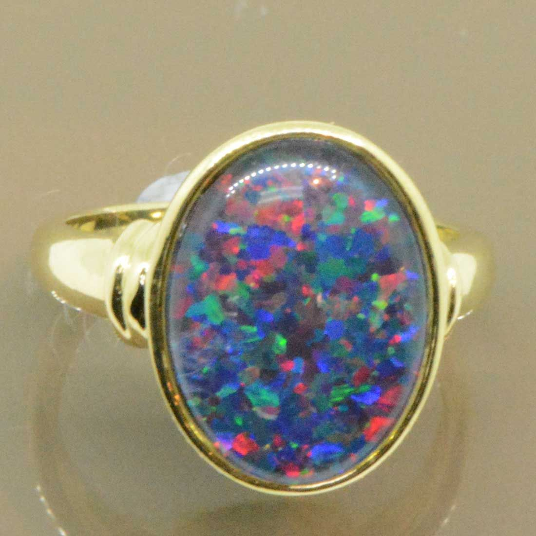 9ct Yellow Gold Triplet Opal Ring 1