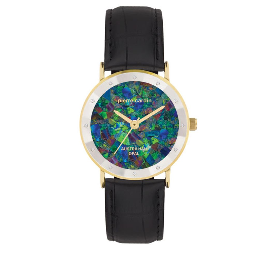 Ladies pyramid face Pierre Cardin opal face watch