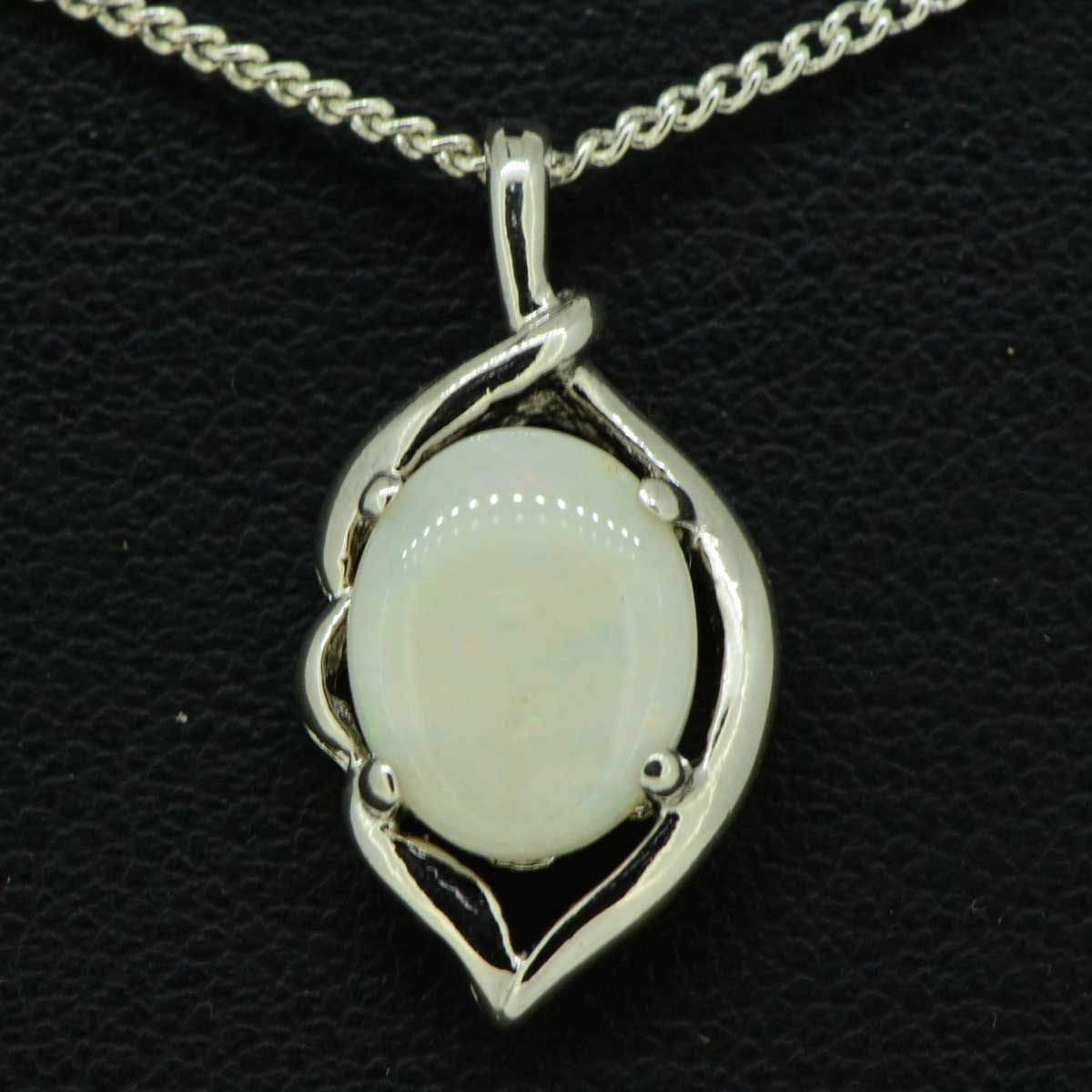 STERLING SILVER SOLID OPAL 10mmx8mm, PENDANT