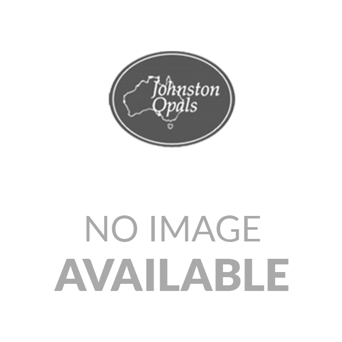 Sterling silver 9mm x 7mm triplet opal ring surrounded by crystals
