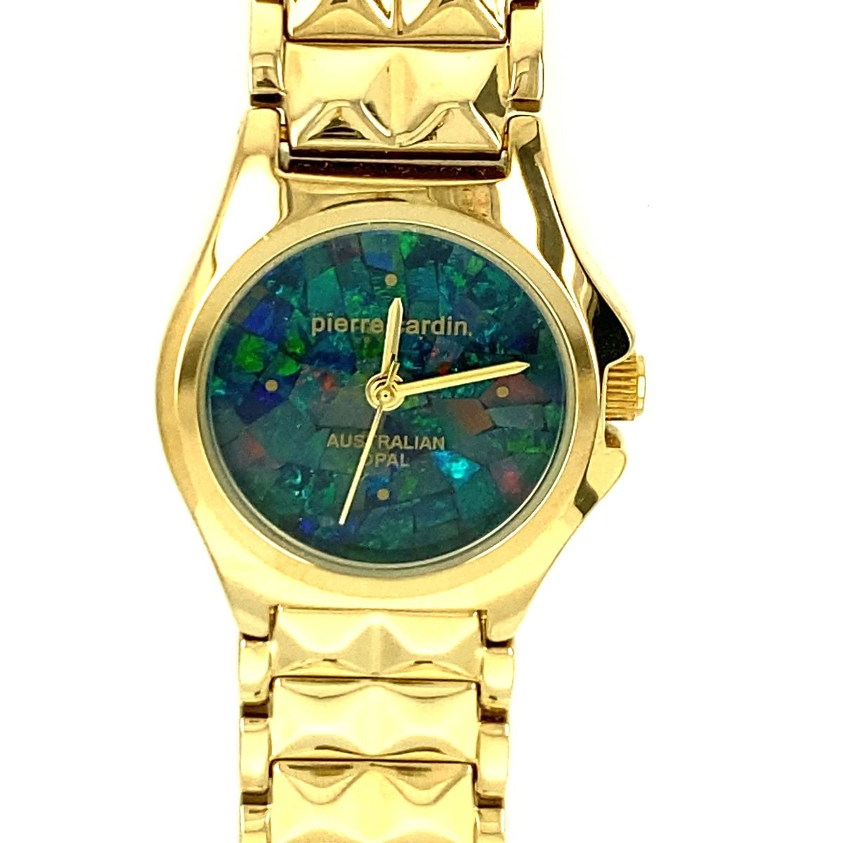 Pierre Cardin Ladies Opal Face Watch with polished gold band